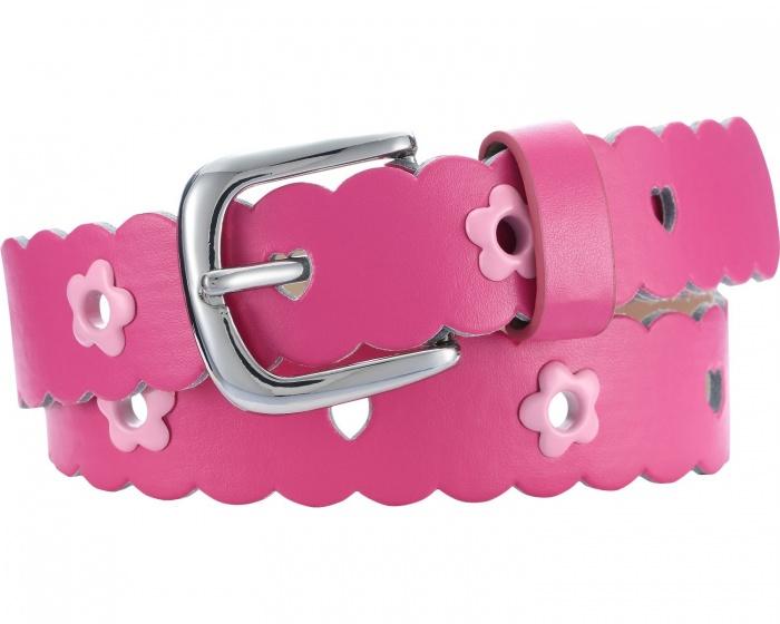 Playshoes riem leder met bloemen junior roze maat 60 cm