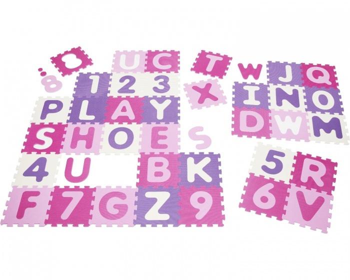 Playshoes vloerpuzzel 36 delig roze/paars kopen