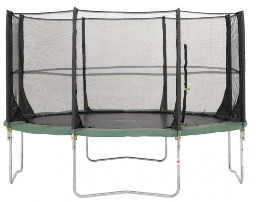 Plum 14FT Space Zone Trampoline met veiligheidsnet 426 cm groen