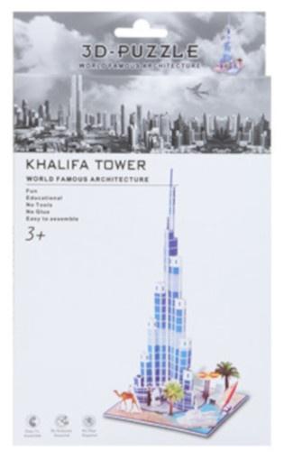 PMS 3D Puzzel Khalifa Tower foam 37 stukjes kopen