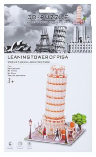 PMS 3D Puzzel Tower of Pisa foam 25 stukjes