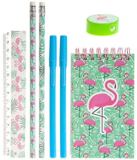 PMS schrijfset flamingo 7 delig