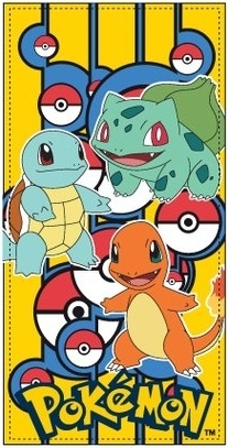 Pokémon Badlaken starters 70 x 140 cm
