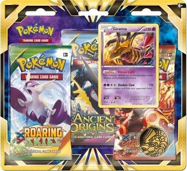 Pokémon blister Giratina verzamelkaarten 3 delig paars