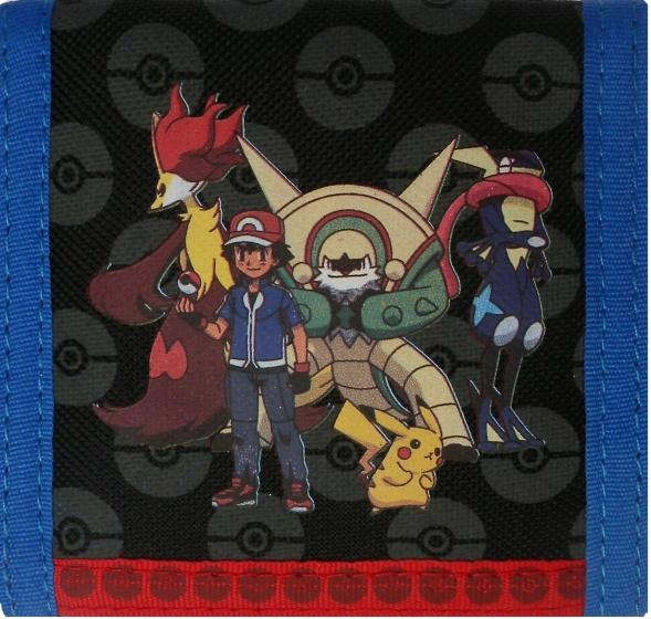 Pokémon Evolution portemonnee 10 x 10 cm zwart