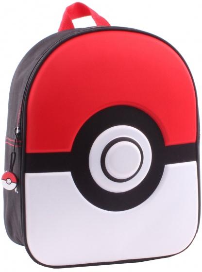 Pokémon rugzak 3D junior 25 x 31 x 10 cm rood
