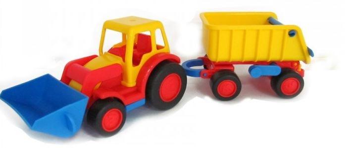 Polesie Tractor Met Shovel en Aanhanger