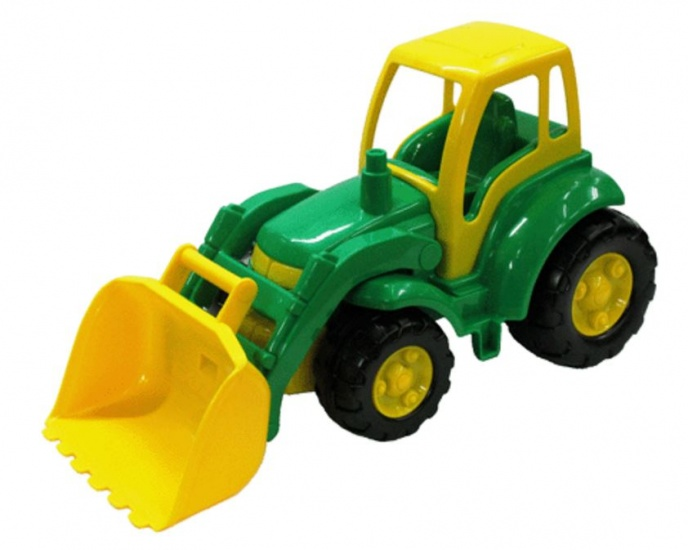 Polesie Tractor Met Shovel: Groen Met Geel 48 cm