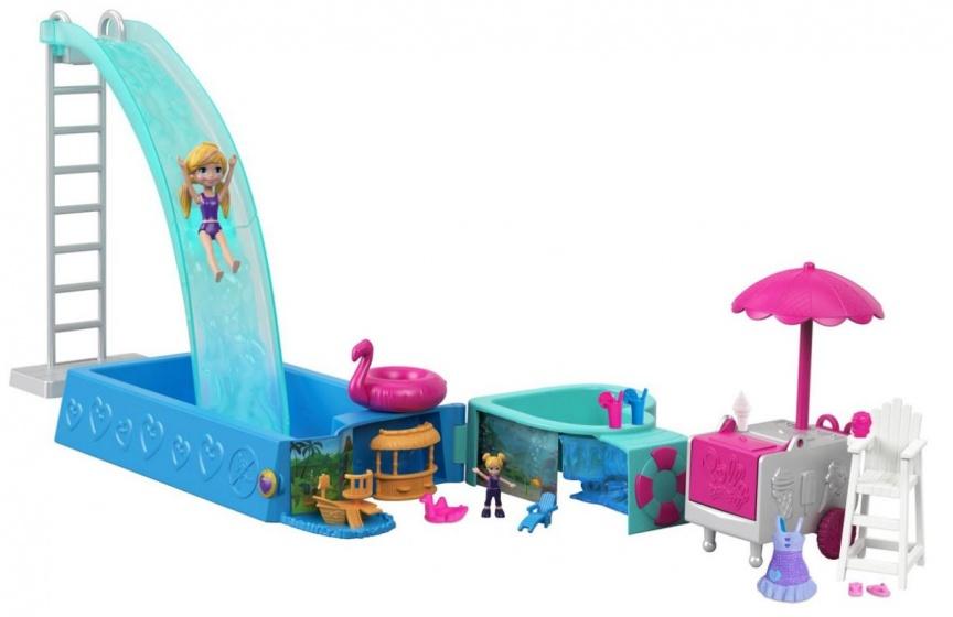 Mattel Polly Pocket zwembadplezier speelset blauw/groen