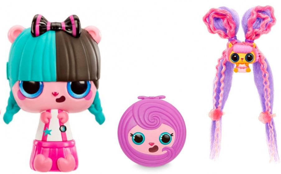 Pop Pop verrassingspop Hair Surprise Roll meisjes 13 cm 9 delig