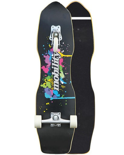 skateboard Quakeboard24.4 x 82 cm wood black/white