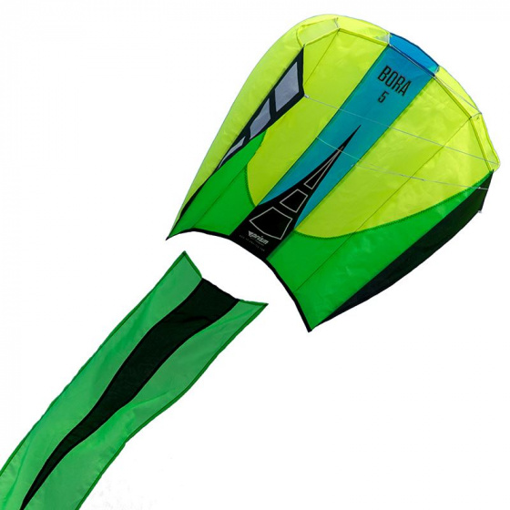 Prism eenlijnsvlieger Bora 5 Jade 81 x 62 cm polyester geel/groen