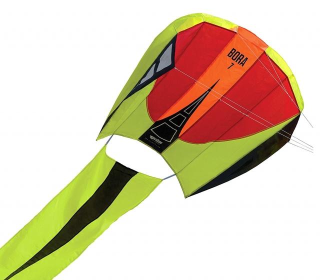 Prism eenlijnsvlieger Bora 7 Blaze 124 x 81 cm groen-rood
