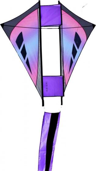 Prism eenlijnsvlieger Isotope Iris 127 x 104 cm paars-blauw