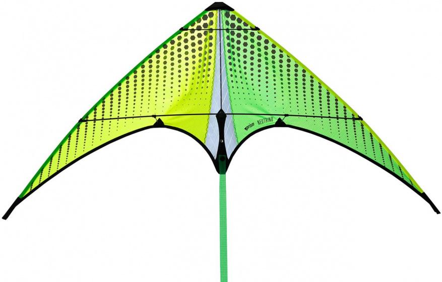 Prism stuntvlieger Neutrino Citron 100 cm nylon geel/groen
