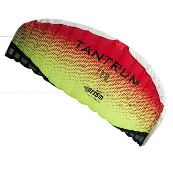 Prism tweelijnsmatrasvlieger Tantrum 220 222 cm polyester rood-geel