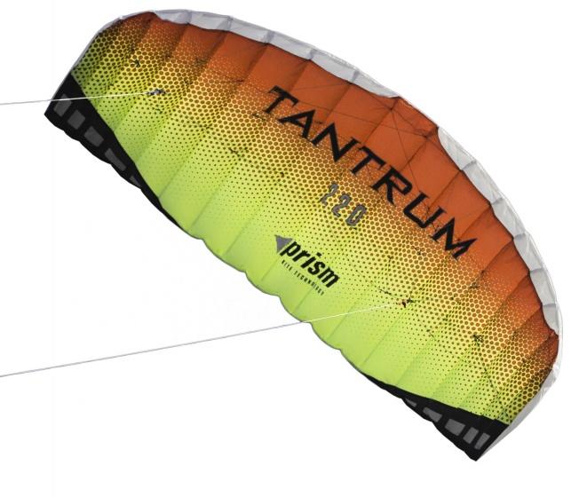 Prism tweelijnsmatrasvlieger Tantrum 220 Lava 222 cm rood/geel