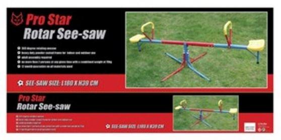 Pro Star wip wap Rotar junior rood/blauw/geel 180 x 39 cm