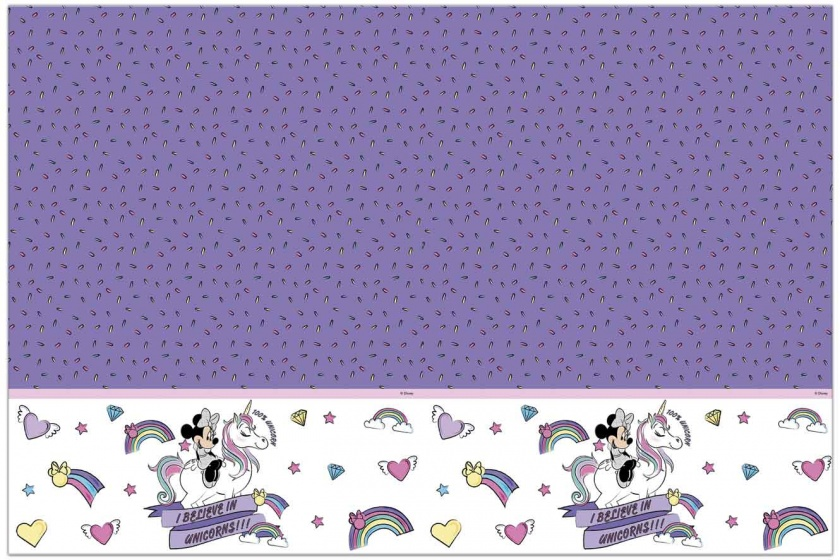 Procos tafelkleed Minnie Unicorn paars 120 x 180 cm
