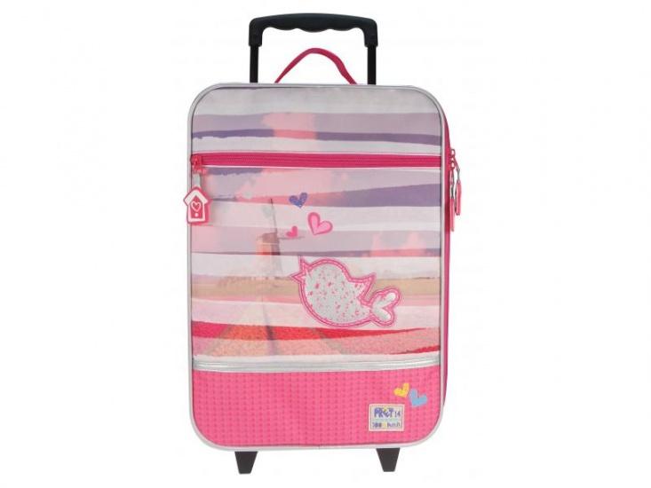 Prêt Denimized Trolley koffer roze 14 x 30 x 40 cm