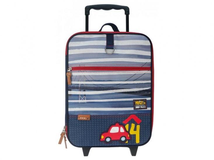Prêt Indigo Trolley koffer blauw 14 x 30 x 40 cm