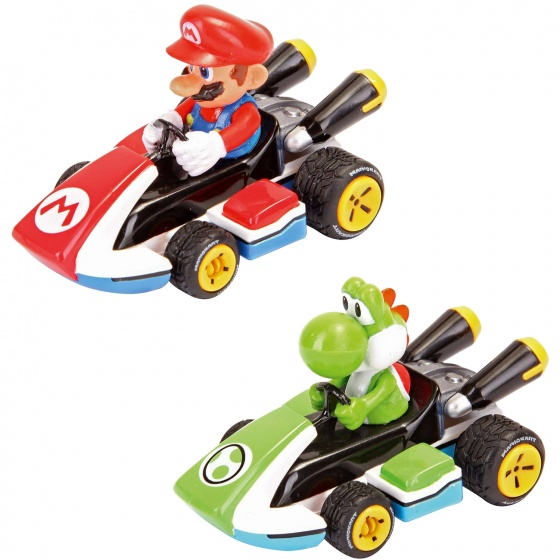 Mario Kart 8 Pull and Speed Twinpack Mario + Yoshi
