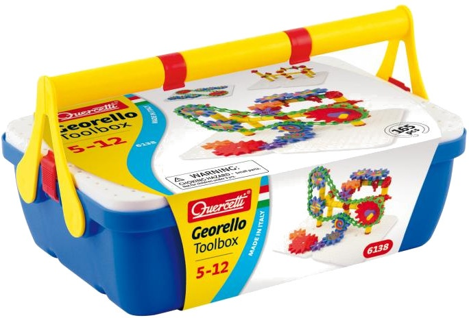 Quercetti Georello Toolbox bouwpakket blauw 165 delig