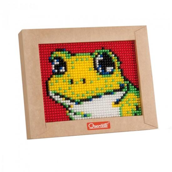 Quercetti mini pixel art kikker 21 x 17 cm 1200 delig