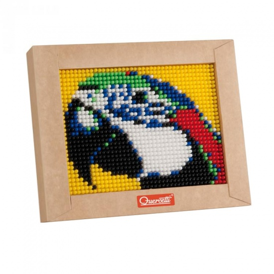 Quercetti mini pixel art papegaai 21 x 17 cm 1200 delig