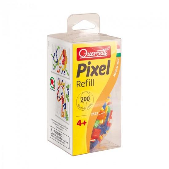 Quercetti Pixel aanvuldoos vierkante pinnen 200 delig