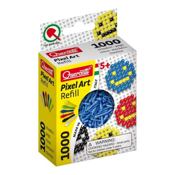Quercetti Pixel Art aanvuldoos blauw diameter 4 mm 1000 delig