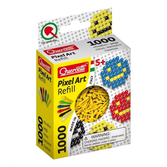 Quercetti Pixel Art aanvuldoos geel diameter 4 mm 1000 delig