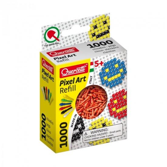 Quercetti Pixel Art aanvuldoos rood diameter 4 mm 1000 delig