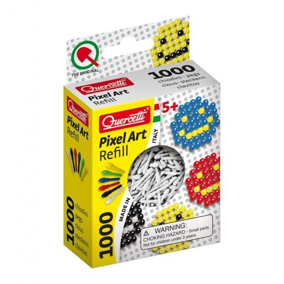 Quercetti Pixel Art aanvuldoos wit diameter 4 mm 1000 delig