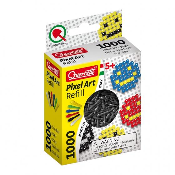 Quercetti Pixel Art aanvuldoos zwart diameter 4 mm 1000 delig