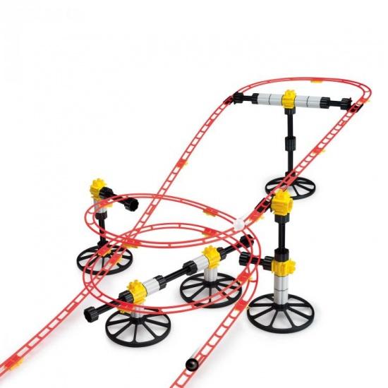 Quercetti Rollercoaster Mini Rail knikkerbaan 150 delig