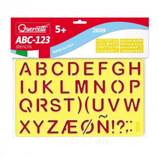 Quercetti Sagome letters tekensjablonen
