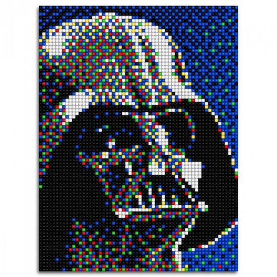 Quercetti Star Wars pixel foto Darth Vader 5600 delig