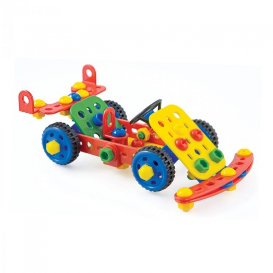Quercetti Techno Toolbox bouwpakket oranje 128 delig