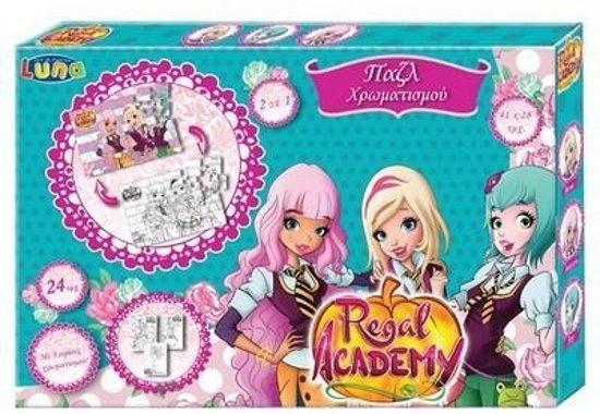 Rainbow S.r.l. kleurset puzzel Regal Academy 24 stukjes