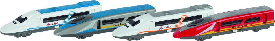 Goki Rapid Transit metro 18.4 cm wit/blauw