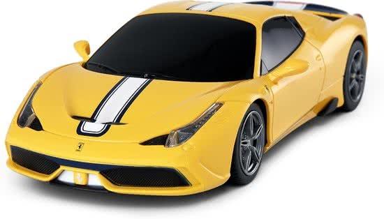 Rastar RC Ferrari 458 Speciale 18 cm schaal 1:24 geel