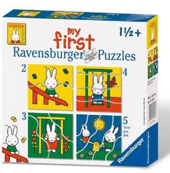 Ravensburger Legpuzzel 4 in 1 Nijntje 2 5 stukjes