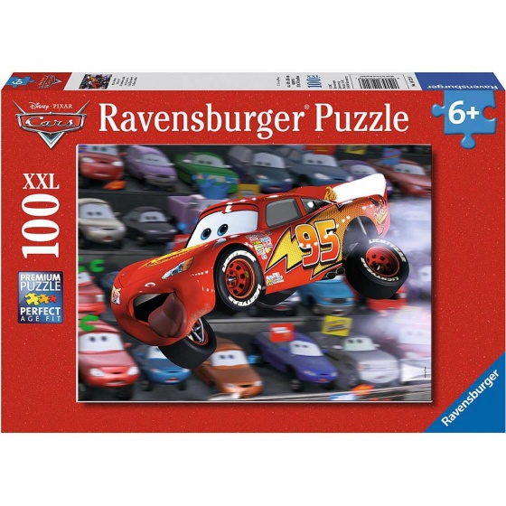 Ravensburger Legpuzzel Cars: MCQueen Race 100 stukjes