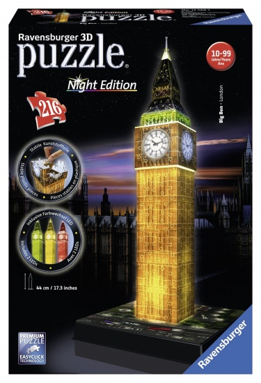 Ravensburger Puzzel Big Ben Night 3d: 216 stukjes