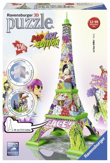 Ravensburger Puzzel Eiffel tower 3d: 216 stukjes