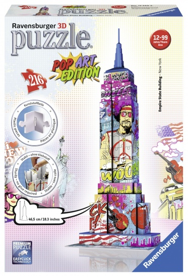 Ravensburger Puzzel Empire State Building 3d: 216 stukjes