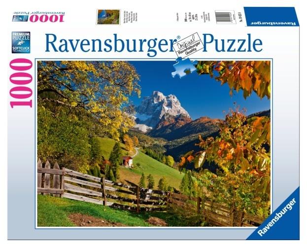 Ravensburger Puzzel Italie: Monte Pelmo Venetie1000 Stukjes