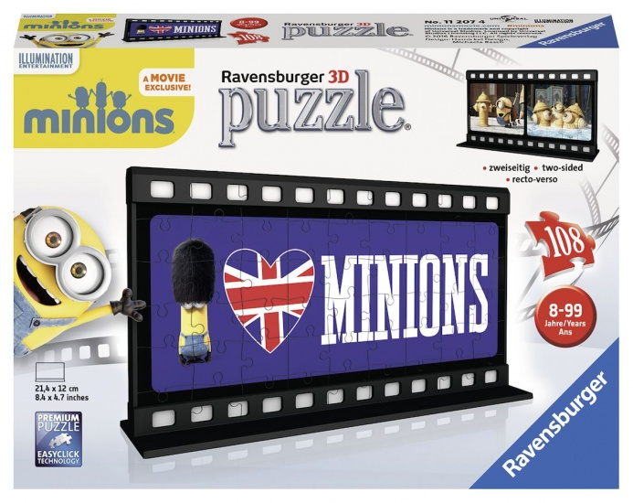 Ravensburger Puzzel Minions 3D: 108 stukjes (112074)