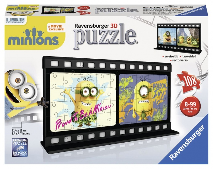 Ravensburger Puzzel Minions 3D: 108 stukjes (112081)